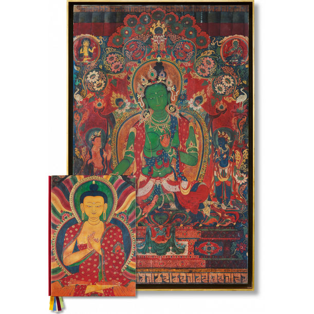 Thomas Laird. Murals of Tibet, Art Edition No. 41–80 'Green Tara, Gyantse Kumbum (ca. 1420)' by Thomas Laird, Robert Thurman, Heather Stoddard, Jakob Winkler, Shigeru Ban