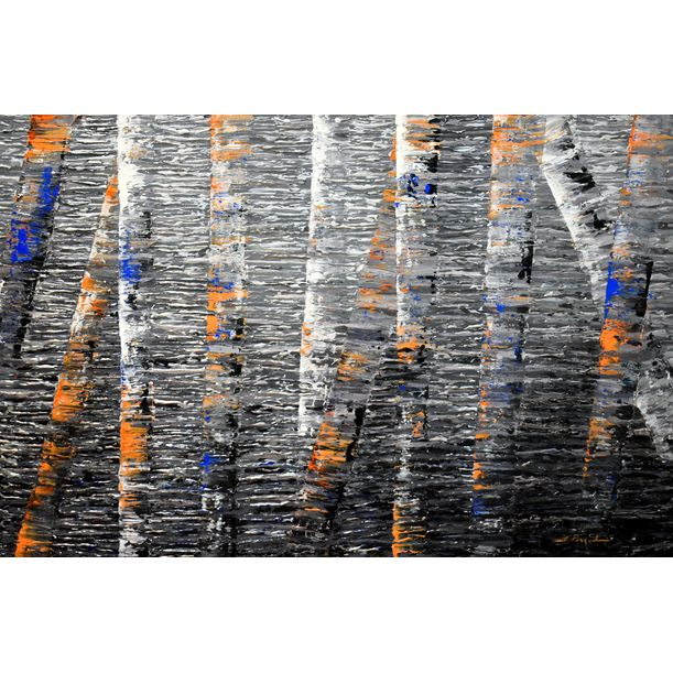 Reflection serie - New England Birch Trees II by Daniela Pasqualini