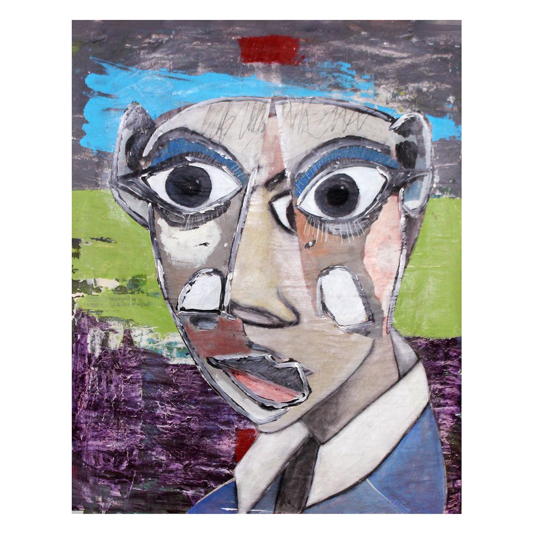 Portrait of Emmanuel Macron by romanho cid