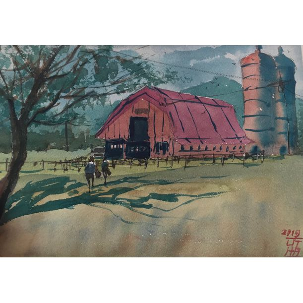 Village's Farm by Anak Agung Wira Suputra