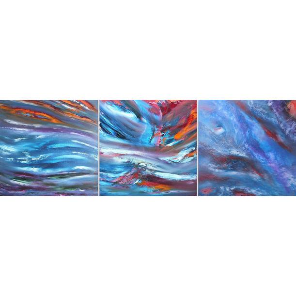 Sky transition, triptych by Davide De Palma