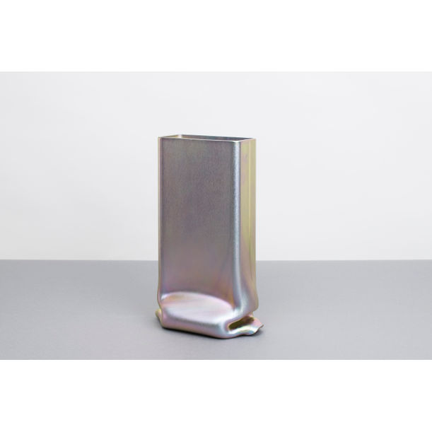 Pressure Vase Rectangular Zinc-Plated by Tim Teven
