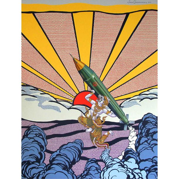 Piss off (after Roy Lichtenstein) by Jirapat Tatsanasomboon