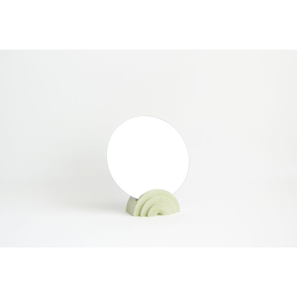 Scala Collection Table Mirror - Olive Green by Extra&Ordinary Design