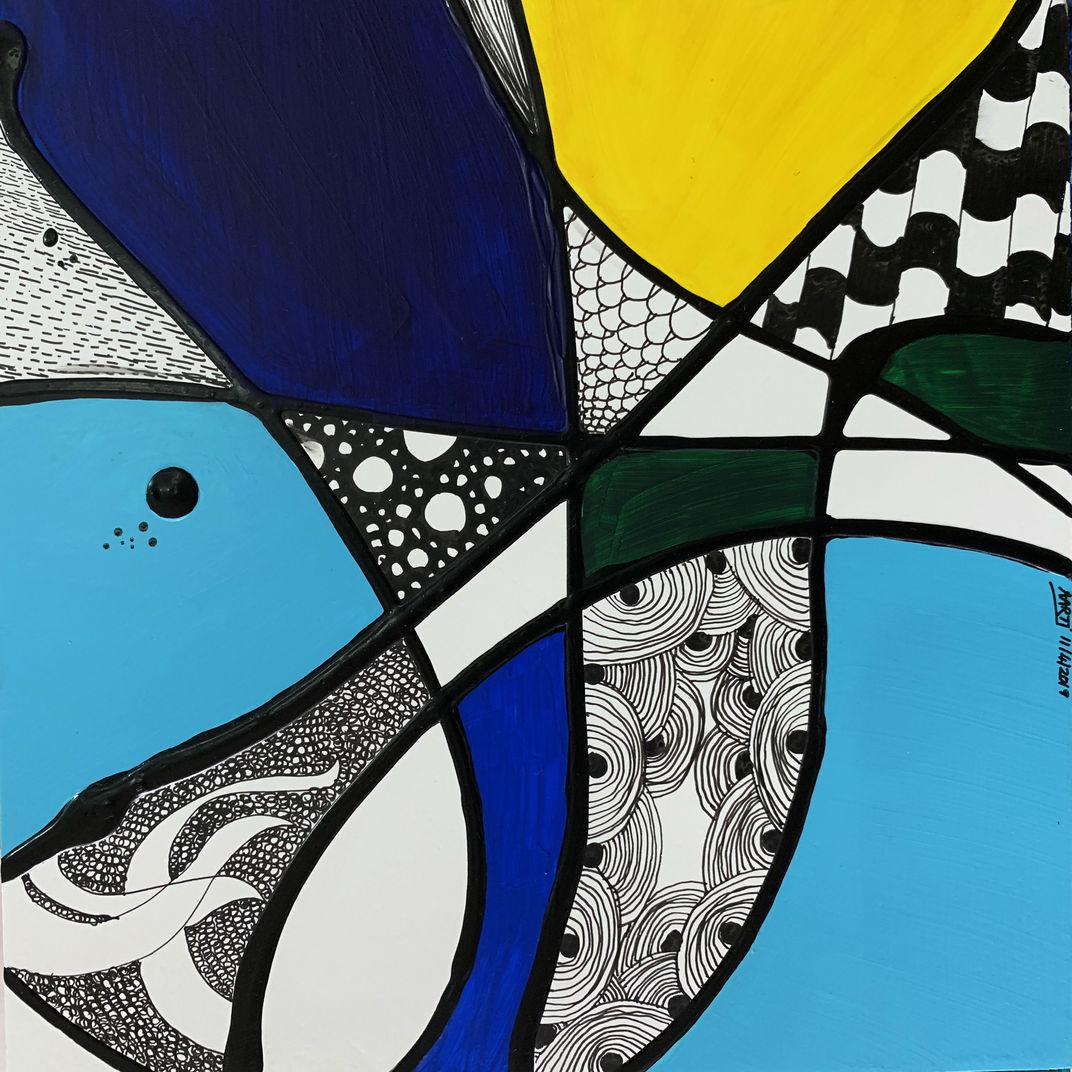 HARLEQUIN - Zentangle Series Mini - 2 by Aarti Bartake