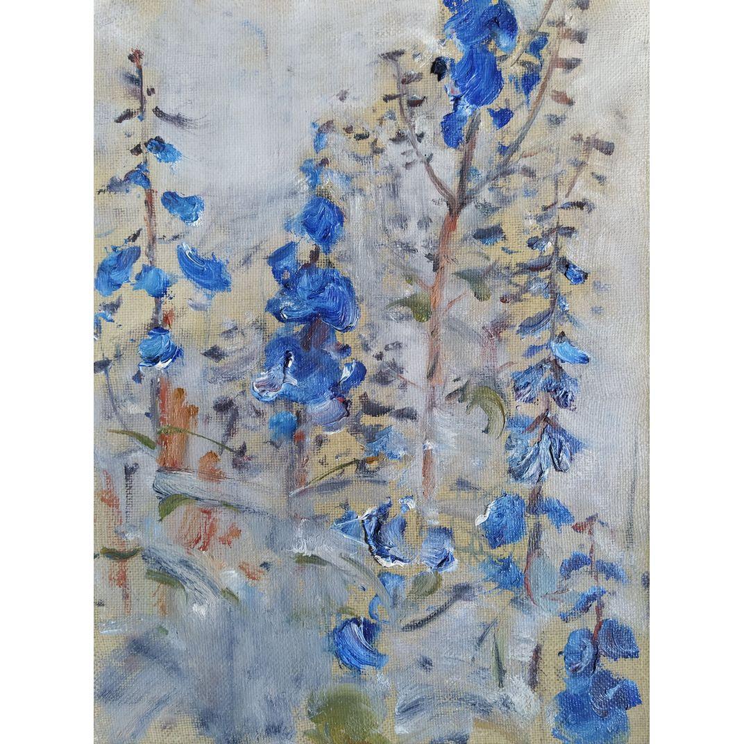 Flowers on a White Background by Yuriy Ushakov
