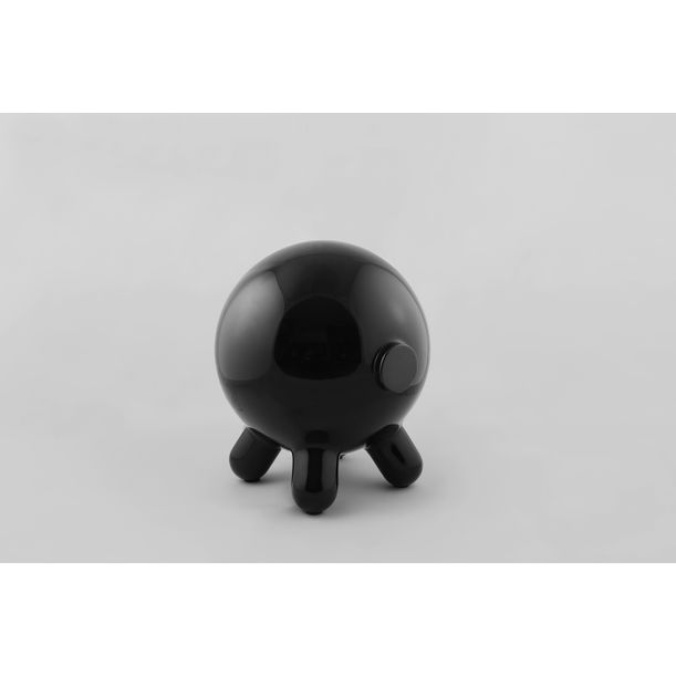 Pogo: Black Decorative Stool and Playful Sculpture by Joel Escalona