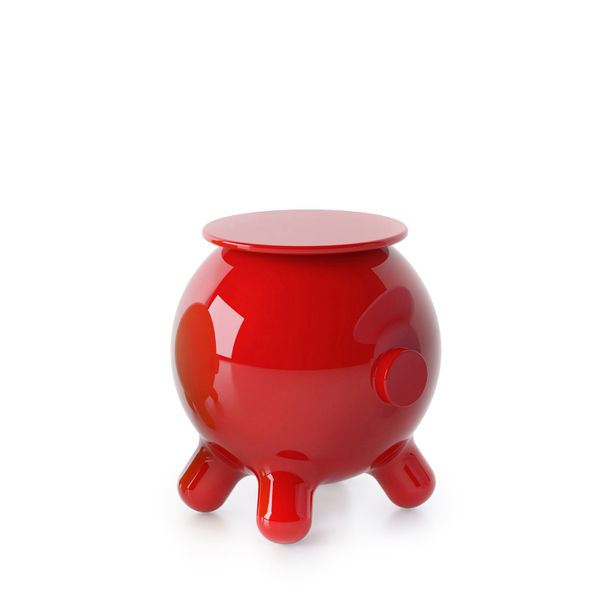 Pogo Red Side Table by Joel Escalona