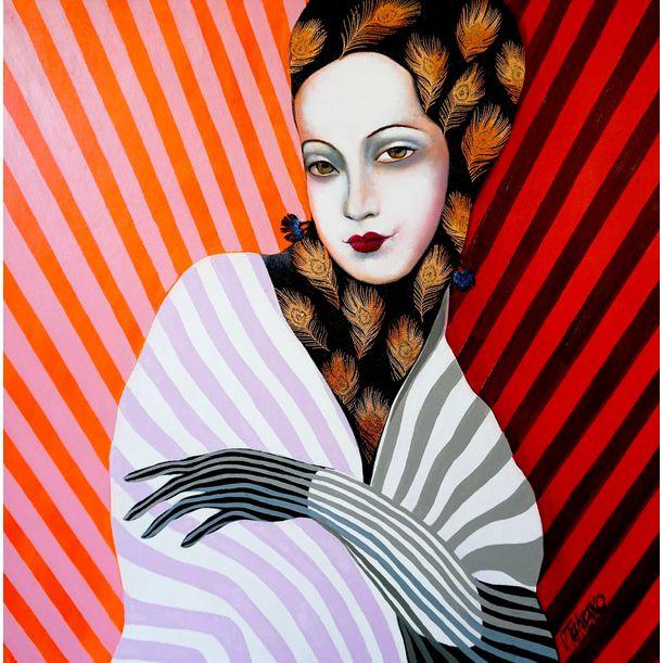 Miss Peacock by Victor Tkachenko