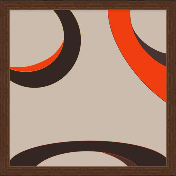 """Our Eyes 32"" - abstract digital print, warm earth tones by Pletneva"