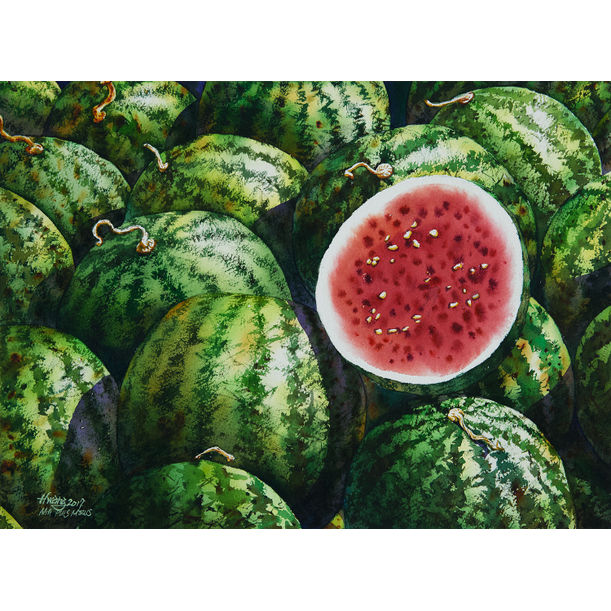 Watermelon No 4 by Lok Kerk Hwang (骆克璜)