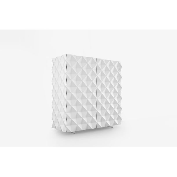 Geometric White Cantina Bar Cabinet from Rocky Collection by Joel Escalona