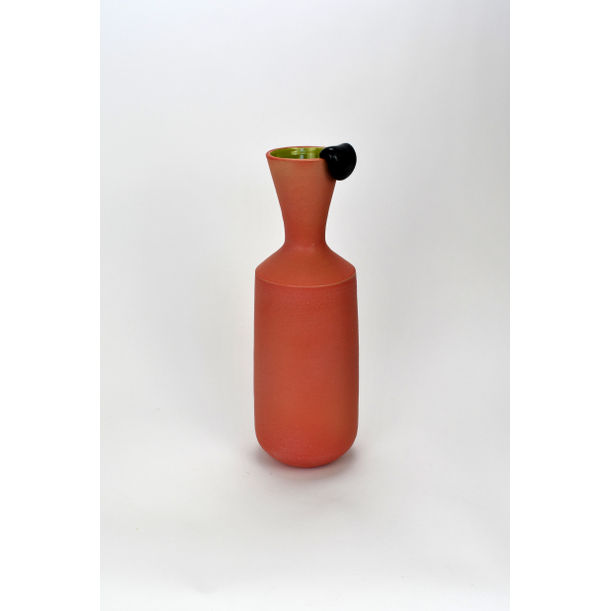 Lost Gum tall Vase with black gum by Natan Moss