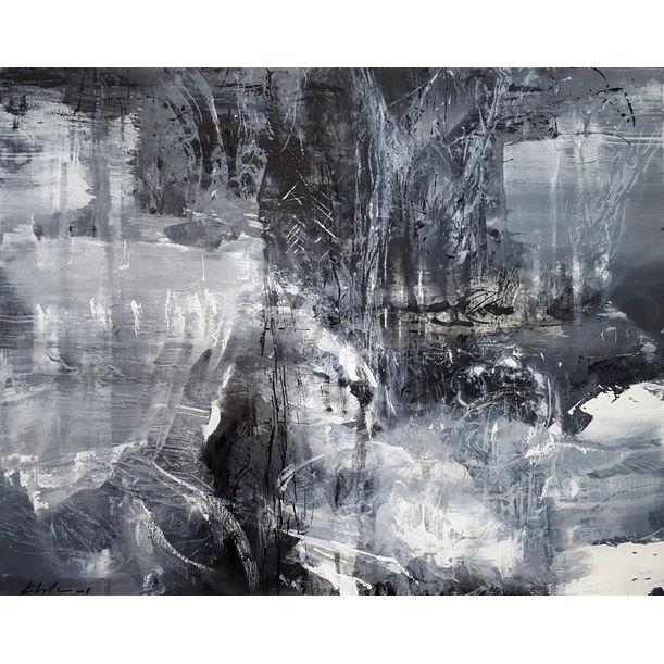 Between the black and divine spiritual forest by Kloska Ovidiu