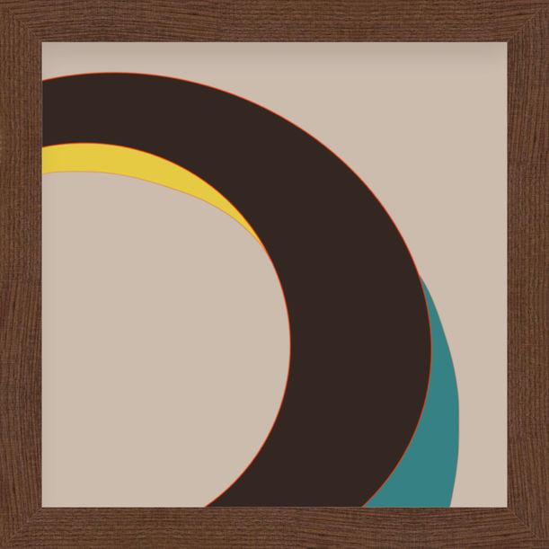 """Your eyes"" - abstract digital print, warm earth tones by Pletneva"