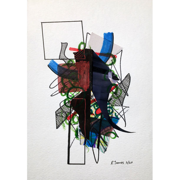 Collage Tangle # 03 by Randall James