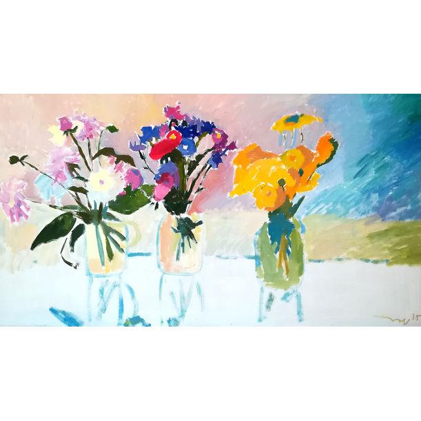 Summer Flowers by Nikol Klampert