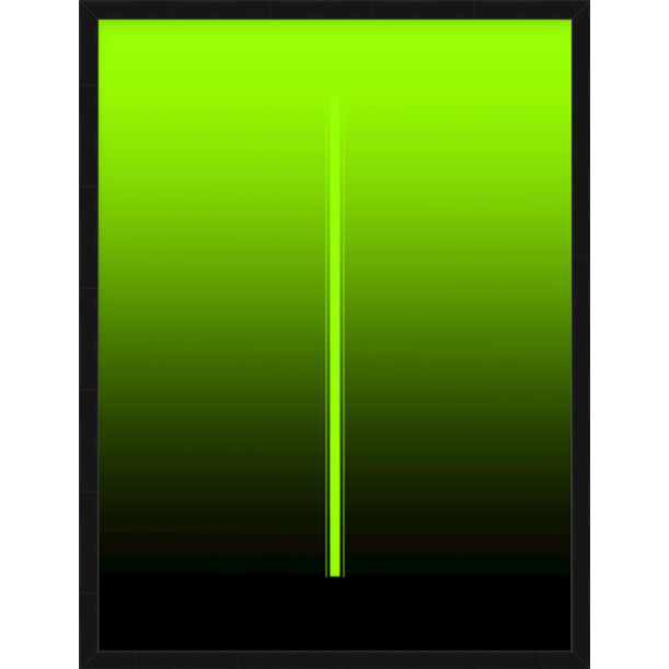 """Billie"" - electric green minimalistic digital print by Pletneva"