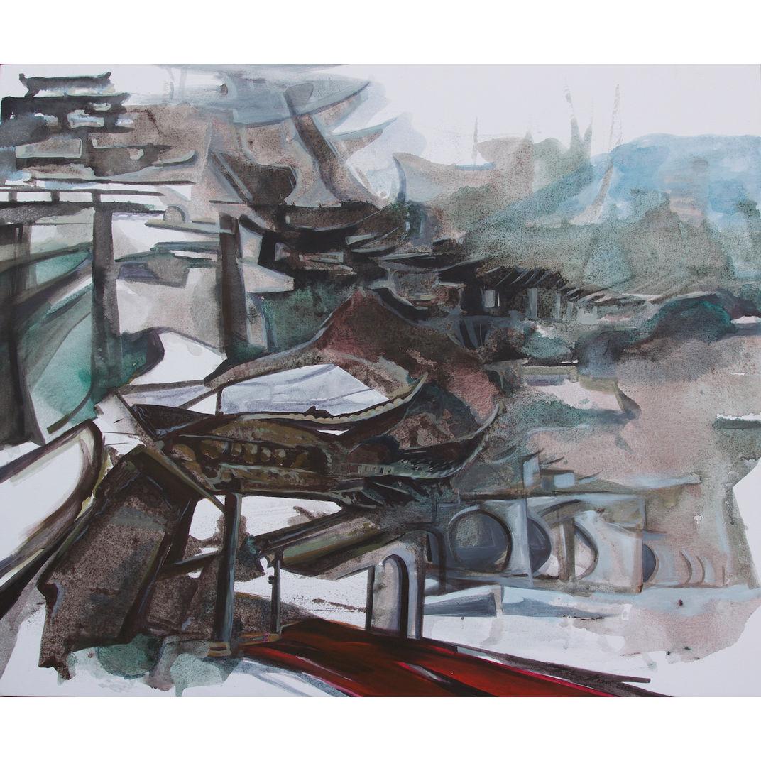 Tao Hua Tan Paifang by Zahra Nazari