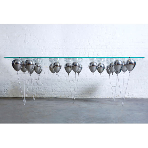 The Up Balloon Dining Table (Silver) by Duffy London