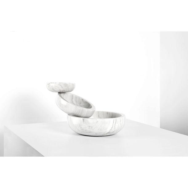 Balancing Marble Sculptural Bowl by Joel Escalona