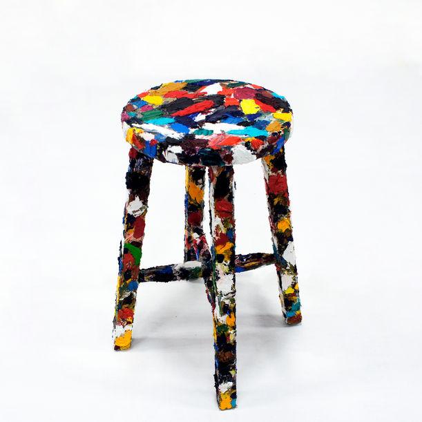 "OilPainting Chair  ""Visualization of human ""hands"" - paint/draw -"" by Kairo Kusamoto"
