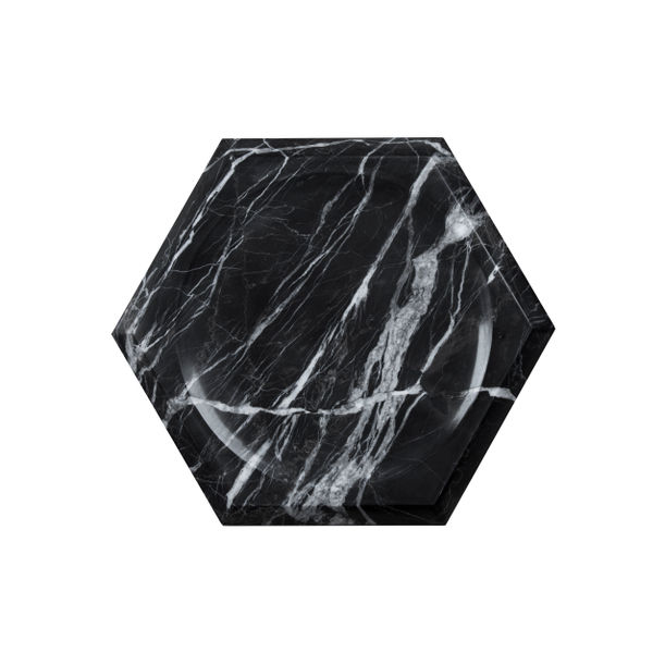 Hexa Black Medium by Marbleous by Buket Hoscan Bazman
