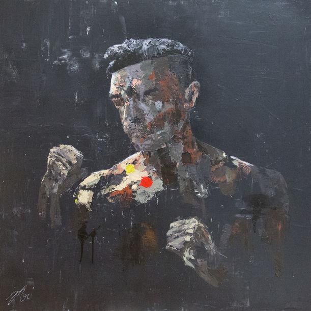 Boxer portrait work by Tomoya