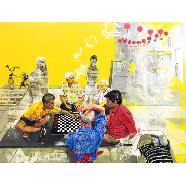 Xiangqi Players and the Sleeping Champion by Zoya Chaudhary