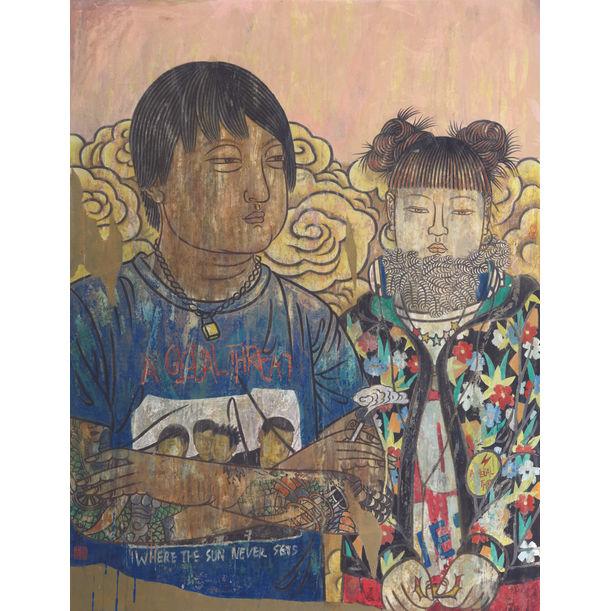 Faces series No. 21 by He Jian