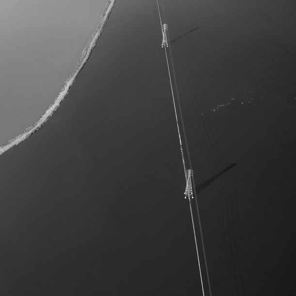 Black and White Power Line by Mitch Rouse