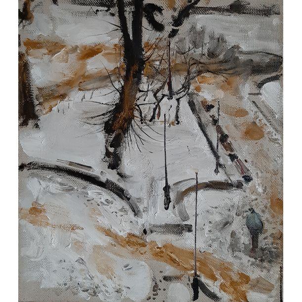 Petrov`s Garden. Sand in The Snow by Yuriy Ushakov
