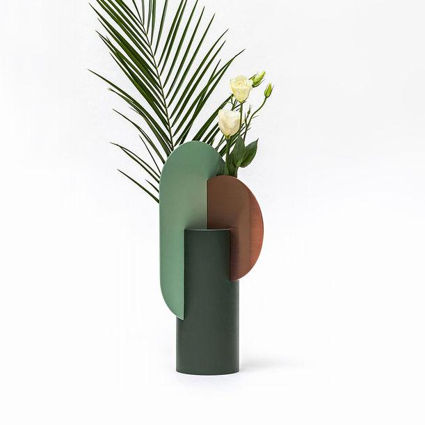 Modern Metal Vase Yermilov CS1 by Noom