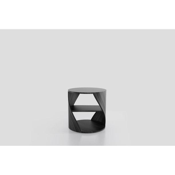 MYDNA Side Table: Black  Wood Decorative Nightstand by Joel Escalona