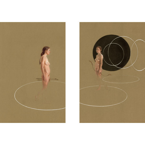 Duality of Mind (Diptych) by Jacqueline Gomez