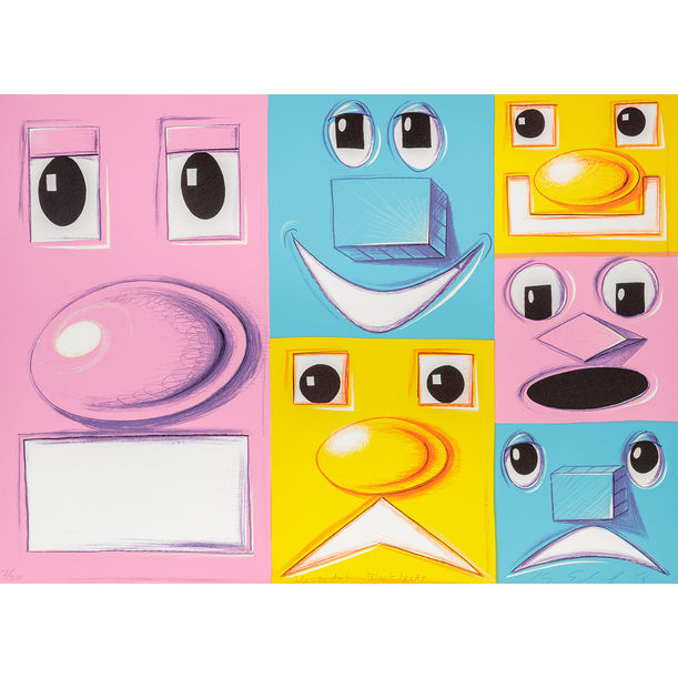 Horizontal Blockheads by Kenny Scharf