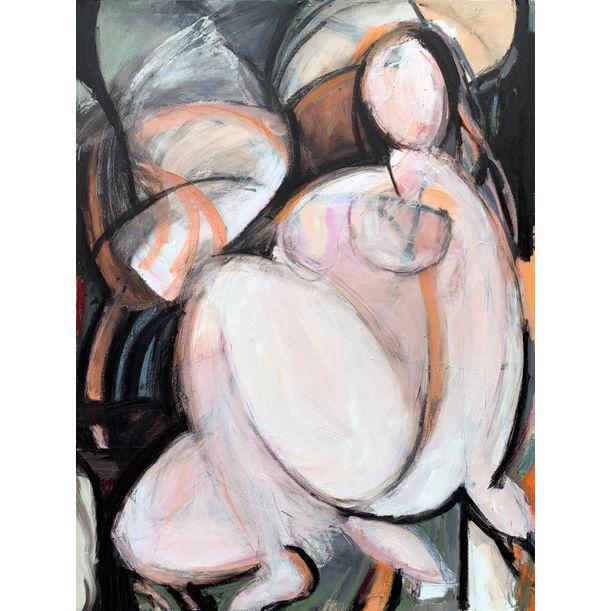 Woman Seated III by Heidi Lanino