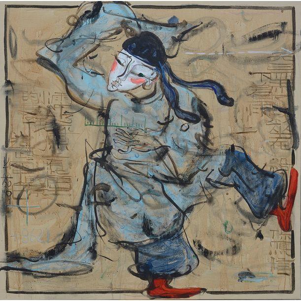 Tang's - Husband - Man with Ruler by Ann Niu
