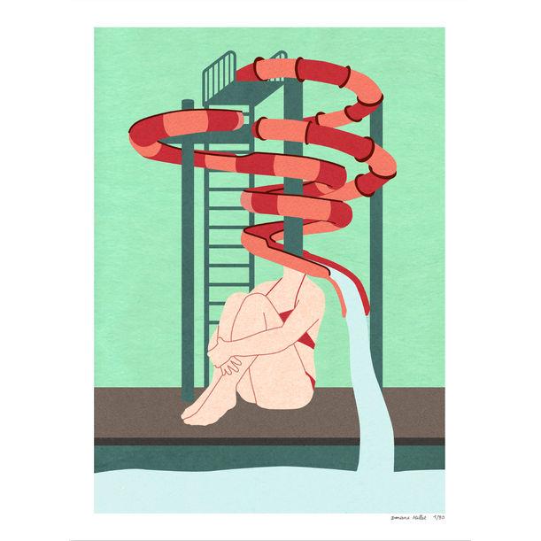 Waterslide woman by Doriane Millet