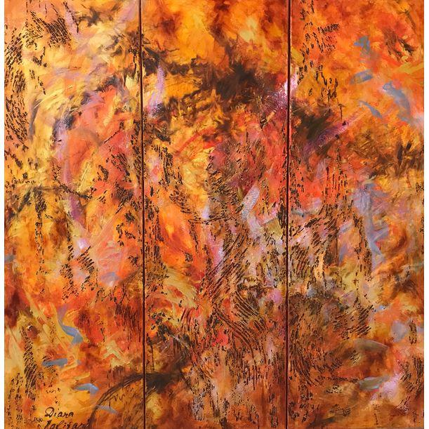 Waltz of Flowers. Triptych by Diana Malivani