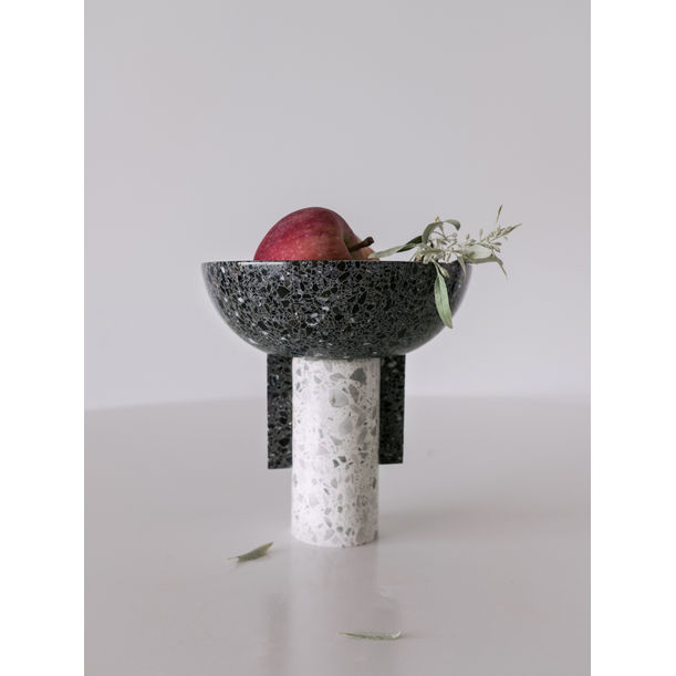 Terrazzo Footed Bowl by KONSTANTIN
