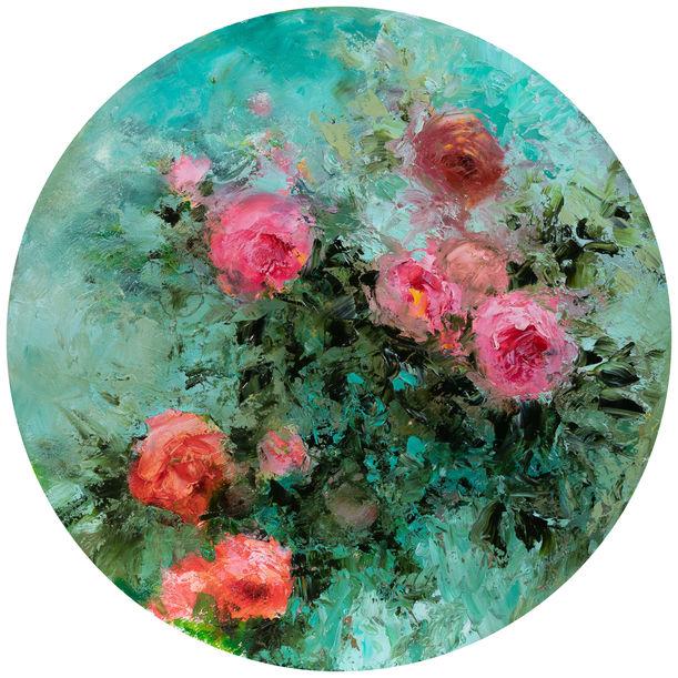 """""""Pompadour tondo"""" by Fabienne Monestier"""