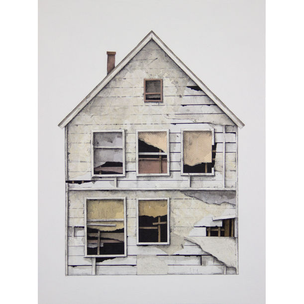 House Portrait (white) by Seth Clark
