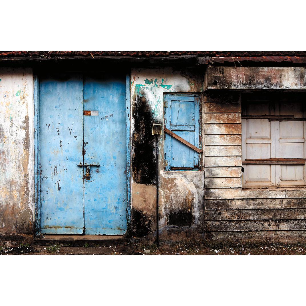 Blue Door, Fort Kochi by Ty Mecham