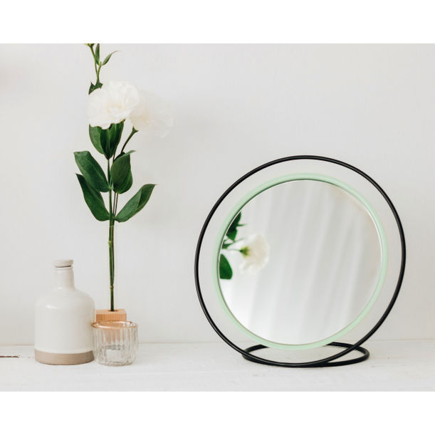 Hollow Table Mirror / Mint Green by Kitbox Design