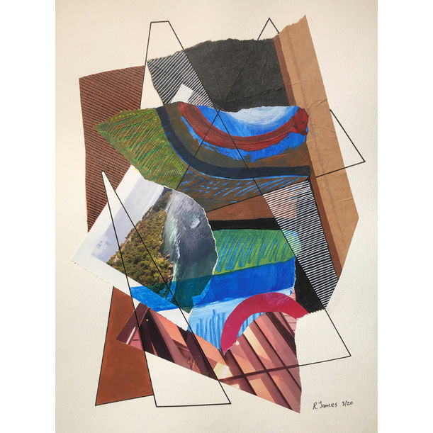 Collage Tangle # 24 by Randall James
