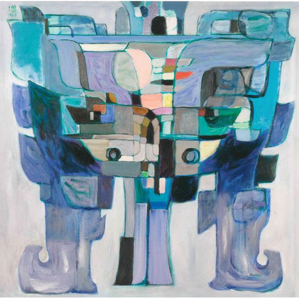 Revelation of Bronze - Blue ⻘銅的啟⽰—藍調 by Pang Tao 厐壔