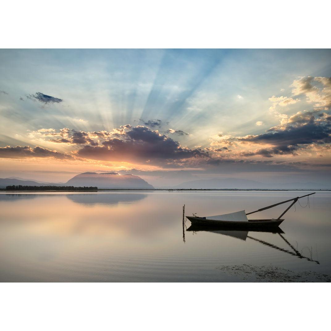 Sunrise at Mesolongi by George Digalakis