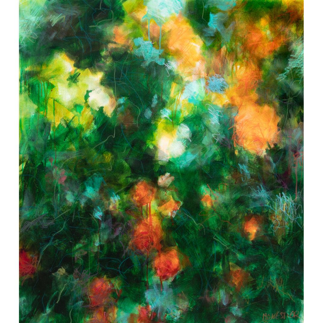 Orange roses by Fabienne Monestier