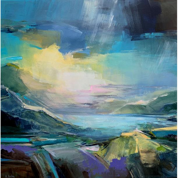 Mountain lake by Irina Laube